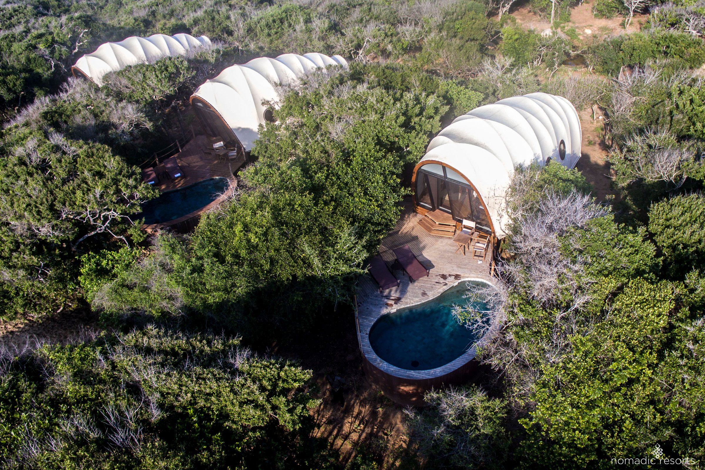 looper cocoon tent pod at wild coast tented lodge