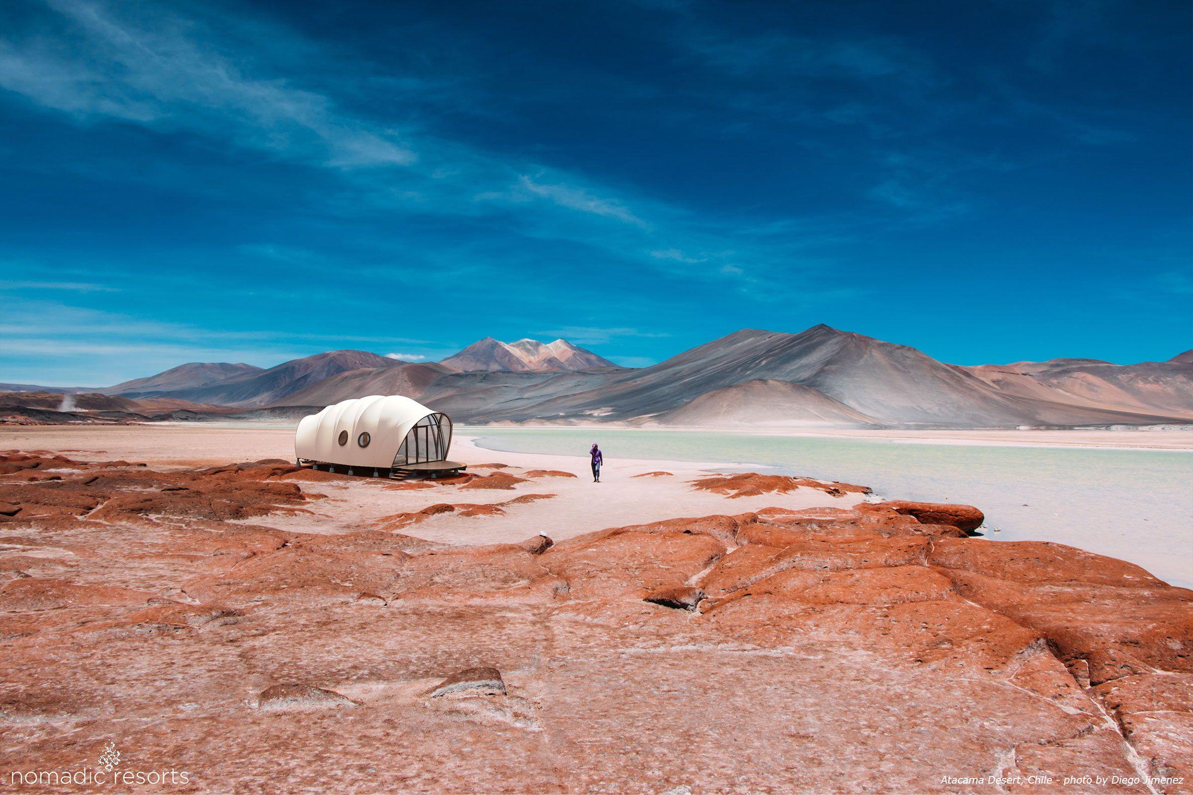looper cocoon tent pod in atacama desert chile