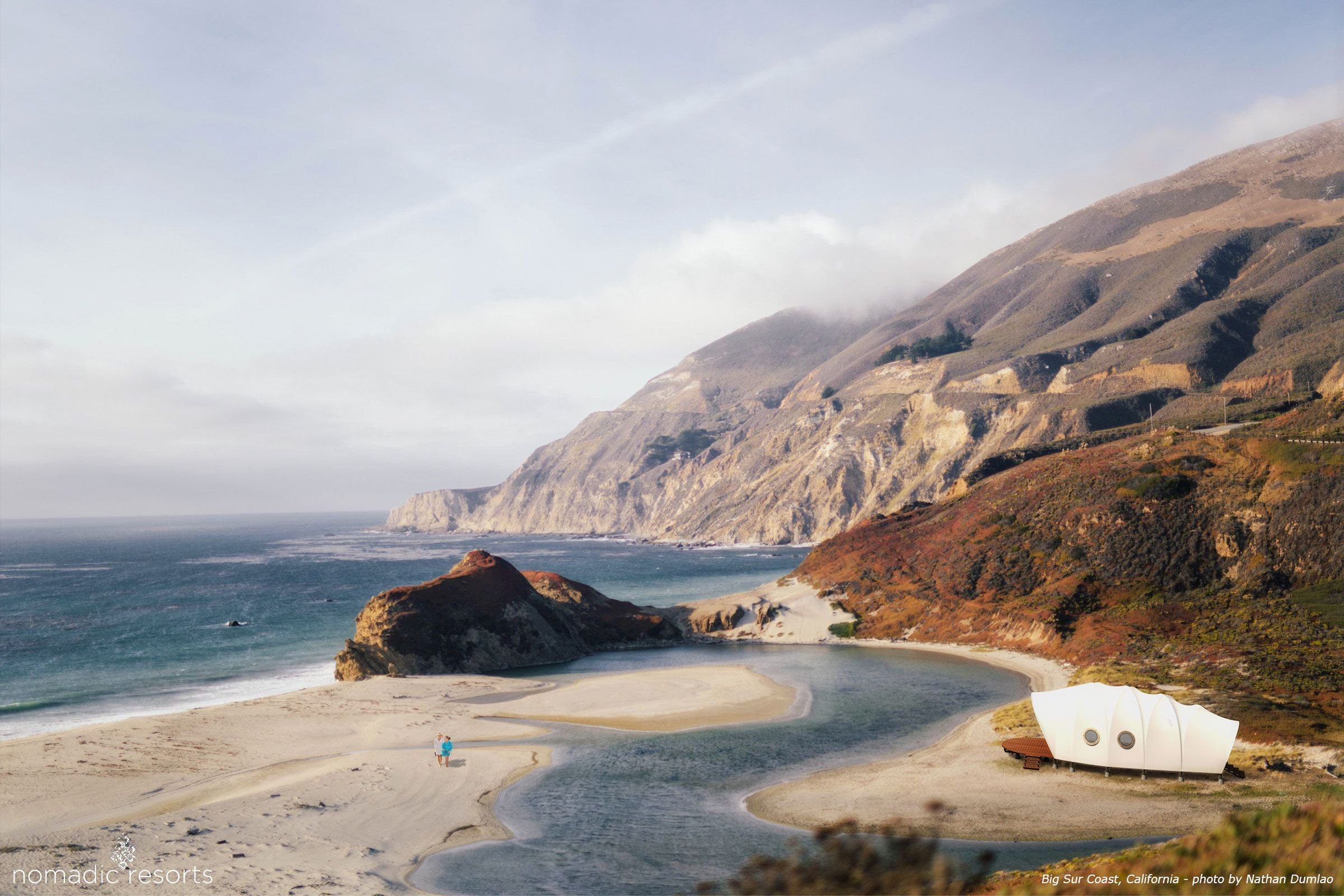 looper cocoon tent pod in big sur coast california