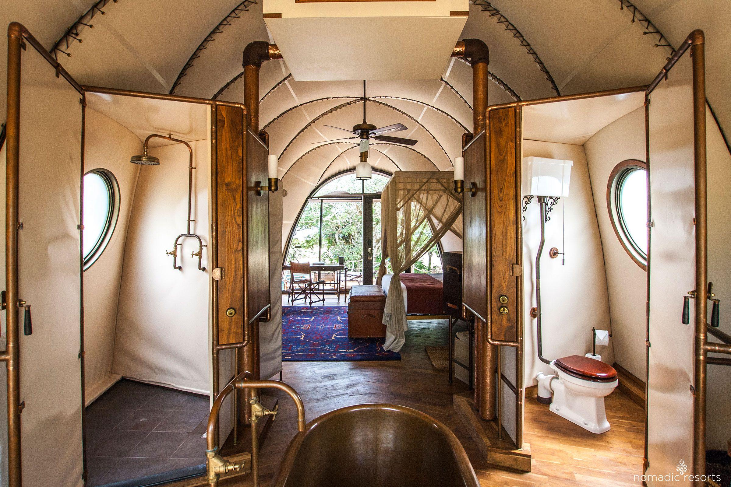 looper cocoon tent pod interior