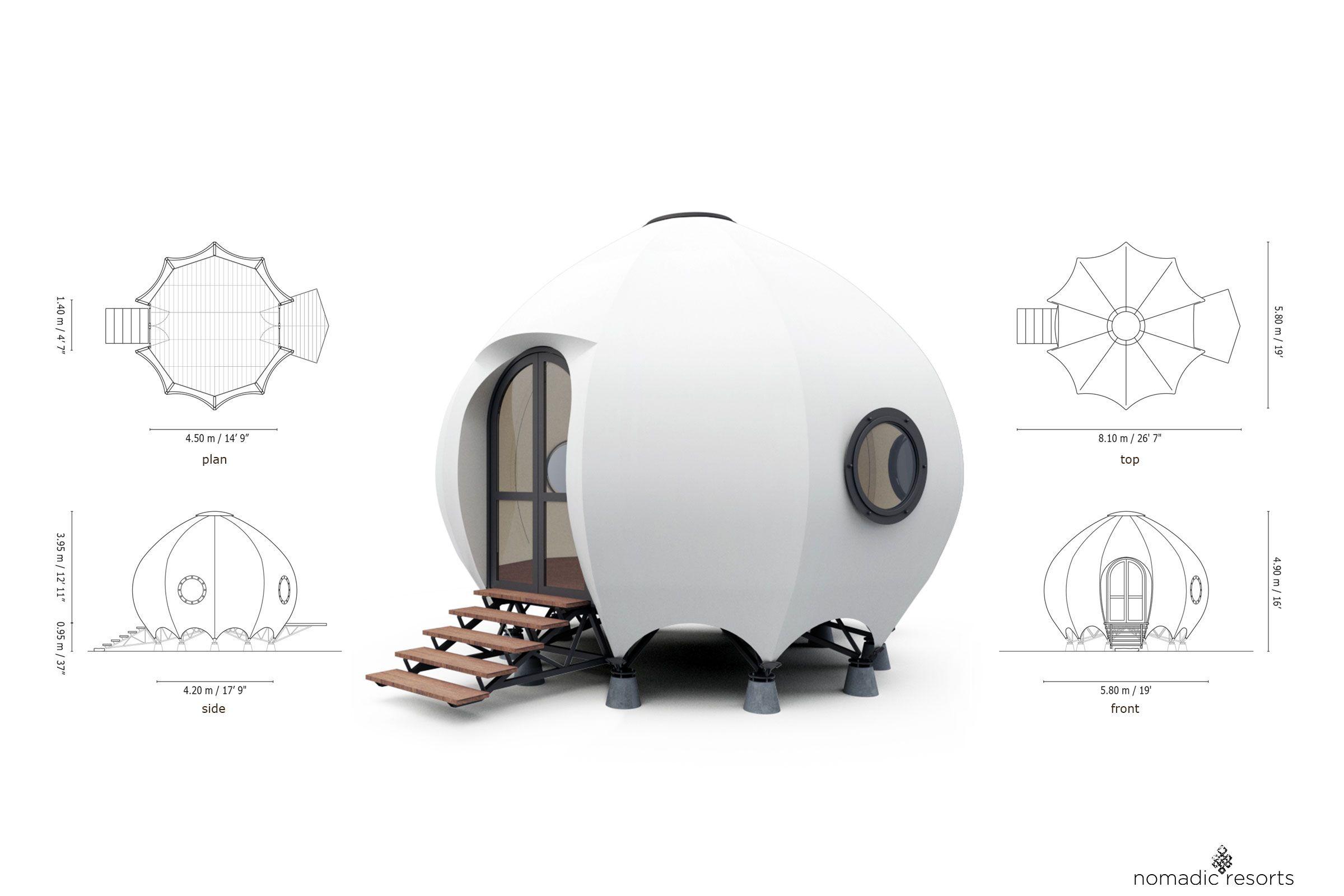 urchin tent pod