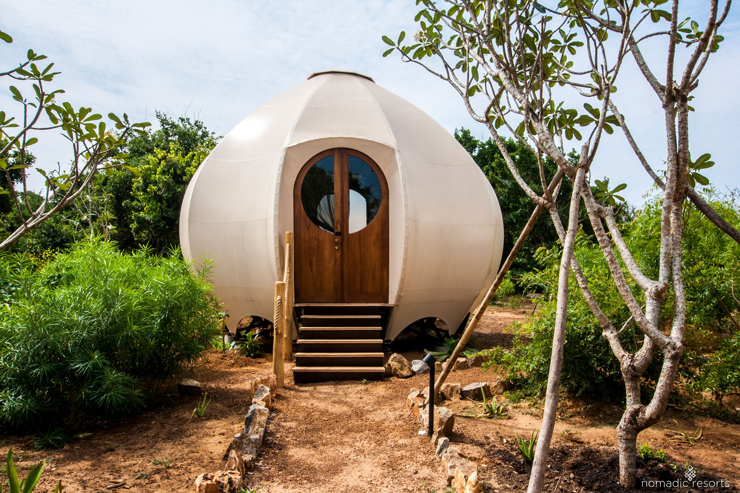urchin pod at wild coast tented lodge in yala sri lanka
