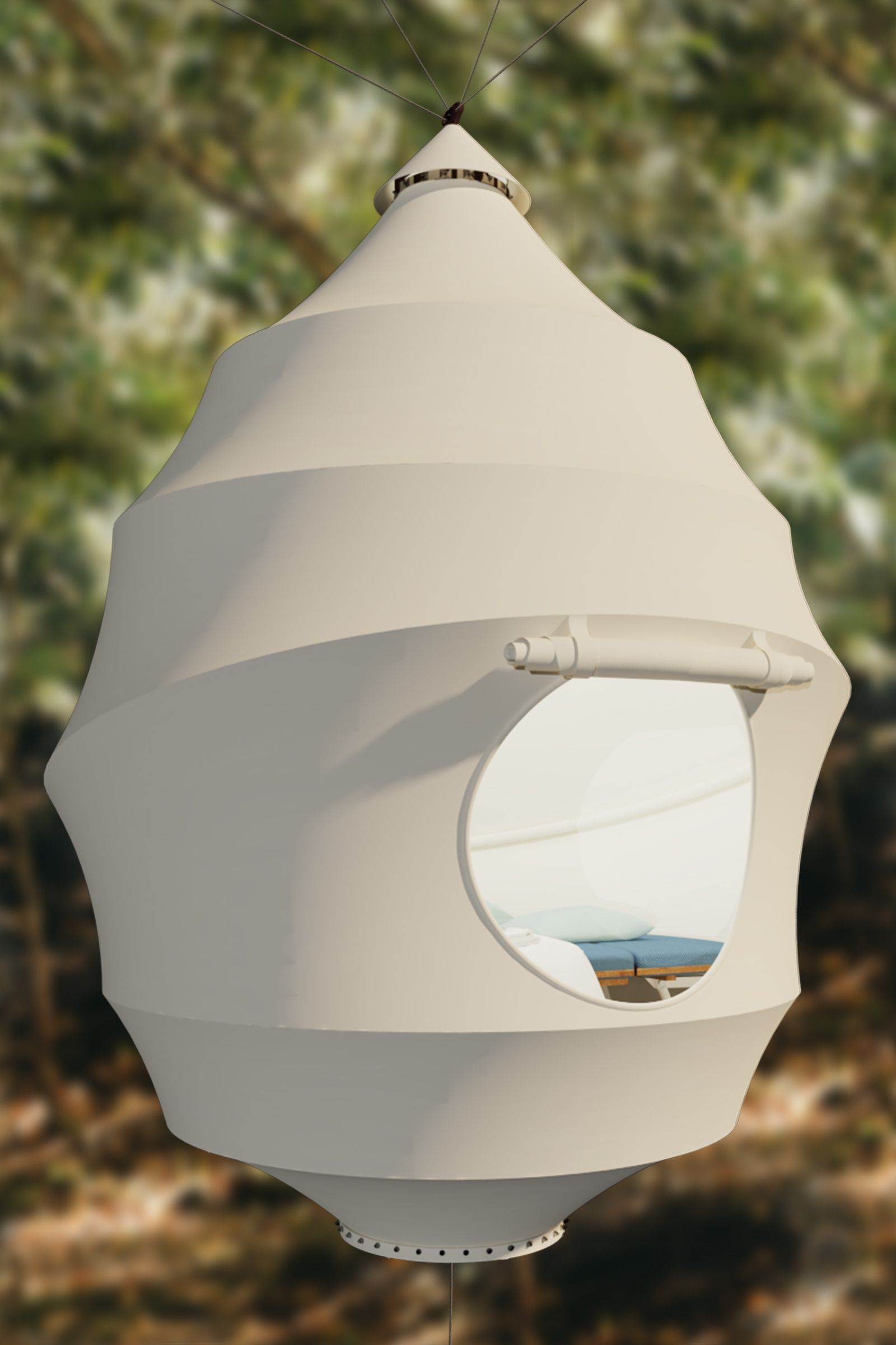seedpod, picnic pod, sleeping pod, pod tent, seed tent, suspended tent